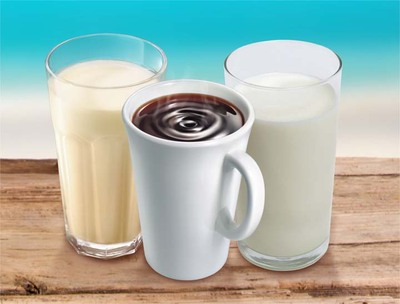 Milk coffee soy milk